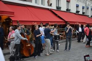 Grup de músics a Montmartre