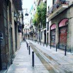 Els carrers encara estan buits barri santPere bcn aPeu