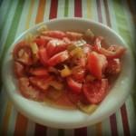 Ensalada d8217estiu tomaca all pebreraEnSalmorra